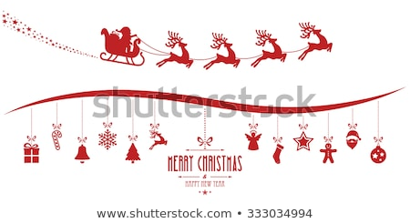Stock photo: Gingerbread Man and Santa Claus Reindeer and Candy
