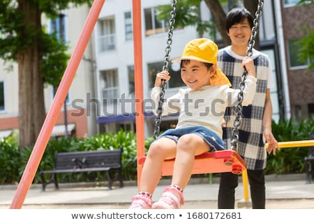 gyerekek · játszik · majom · rácsok · illusztráció · virágok - stock fotó © colematt