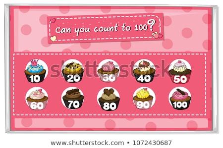 Mathematics Counting Cakes 1 to 100 Stock photo © colematt