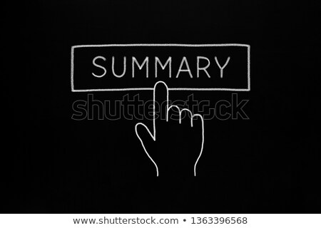 Hand Cursor Clicking Summary Button Concept ストックフォト © ivelin