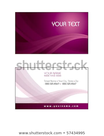abstract red wavy business card design Сток-фото © SArts