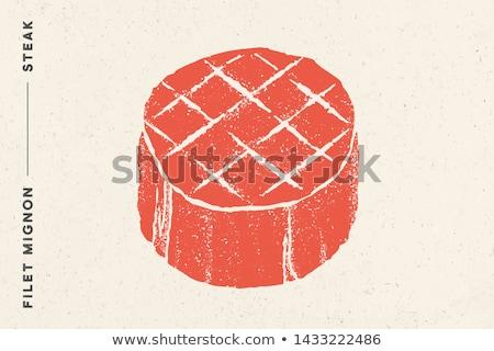 steak · vesepecsenye · hús · étel · pop · art · retro - stock fotó © foxysgraphic