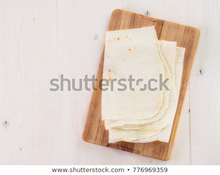 Ekmek tablo üst görmek arka plan mutfak Stok fotoğraf © furmanphoto