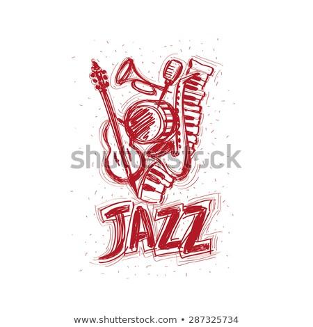 international jazz music festival retro grunge poster stock photo © cienpies