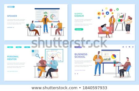 Działalności szkoły osobowych mentor internetowych Zdjęcia stock © robuart