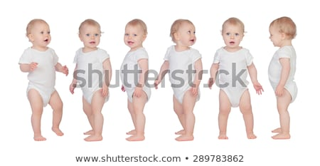 Stock fotó: Stúdió · portré · baba · fiú · áll · boldog