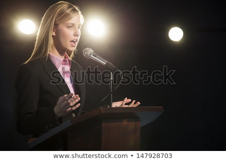 Young confident female speaker in formalwear Stock photo © pressmaster
