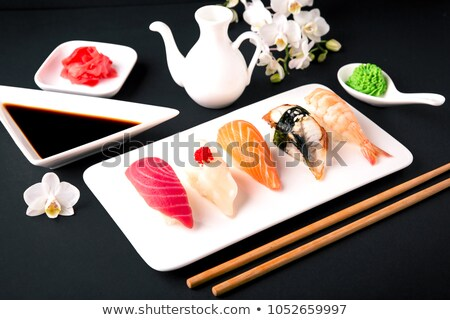 Japanese sushi set with tuna. Maguro Stock photo © karandaev