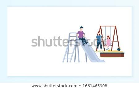площадка детей сайт текста образец вектора Сток-фото © robuart