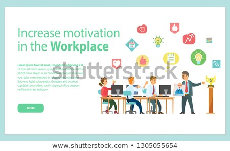 Increase Motivation in Workplace Web Page Vector Stock photo © robuart