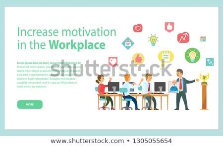 Motivación lugar de trabajo web página vector Foto stock © robuart
