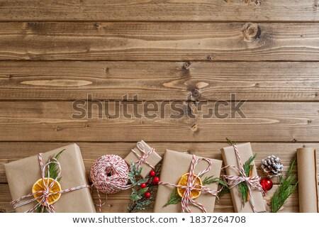 hediyeler · Noel · sunmak · kar - stok fotoğraf © Wetzkaz