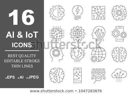 Cyborg Artificial Intelligence Vector Sign Icon Stock photo © pikepicture