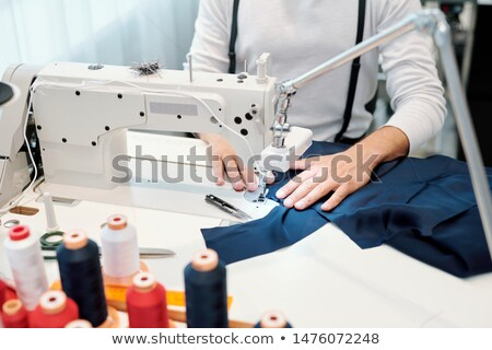 fabrika · bir · şey · işçi · yeni · makine · tekstil - stok fotoğraf © pressmaster