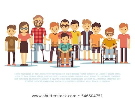 Kid · коляске · иллюстрация · девушки · ребенка · инвалидов - Сток-фото © izakowski