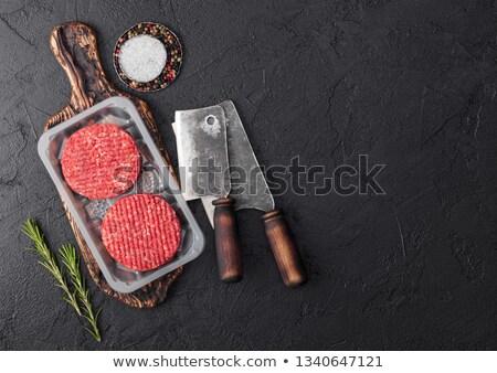 ruw · grill · rundvlees · specerijen · kruiden - stockfoto © denismart