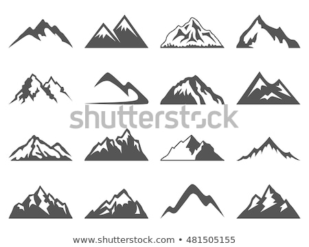alpinism collection elements vector icons set stock photo © pikepicture