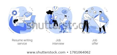 Job offer letter vector concept metaphor Stock photo © RAStudio