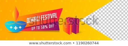 mega happy diwali sale banner with image space stock photo © sarts