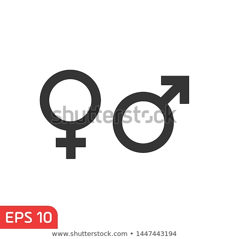 Male and female icons on a white buttons. Vector illustration Stock photo © Imaagio