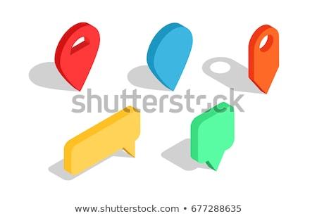 Parkeren plaats isometrische icon vector teken Stockfoto © pikepicture