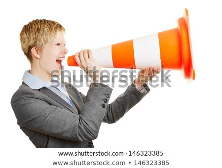 Woman holding traffic cone Stock photo © photography33