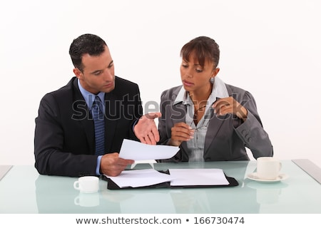 Business couple having heated discussion Stock photo © photography33