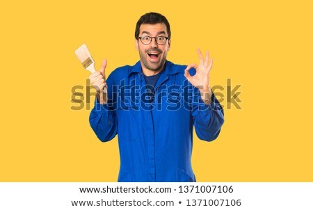 Painter giving the a-ok sign Stock photo © photography33