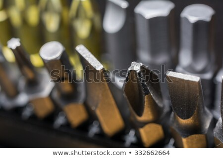 Screw with cross slots - close-up Stock photo © pzaxe