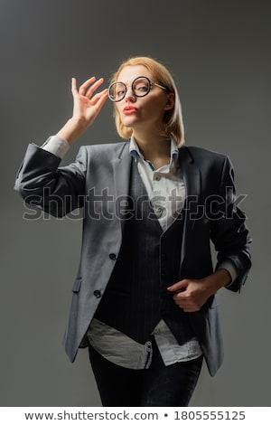 şehvetli adam genç portre çıplak Stok fotoğraf © zittto