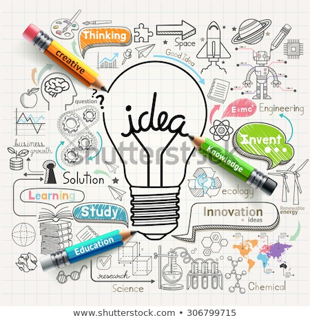 creativity, idea, innovation in arrows Stock photo © marinini