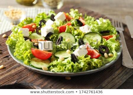 Taze lezzetli sebze salata soğuk avrupa Stok fotoğraf © fiphoto