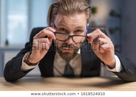 A mature businessman miming. stock photo © photography33