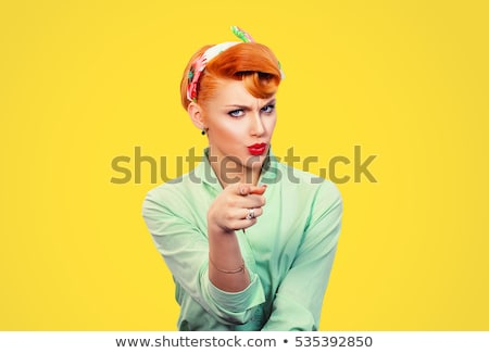 mulher · louco · jovem · mulher · de · negócios · óculos - foto stock © kyolshin