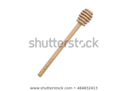 Honey on wooden drizzler Stock photo © homydesign
