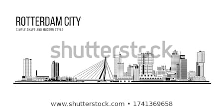 rotterdam skyline Stock photo © compuinfoto