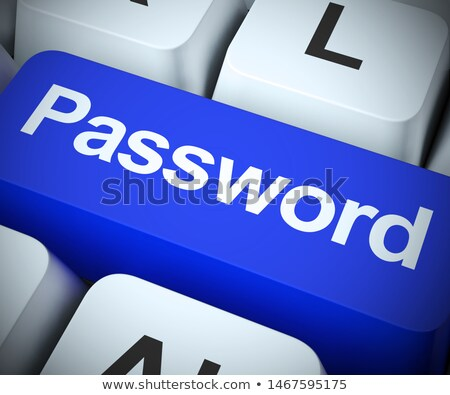 Sleutel computer beperkt wachtwoord tonen Stockfoto © stuartmiles