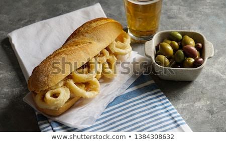 Sanduíche típico espanhol tapas frito lula Foto stock © Photooiasson