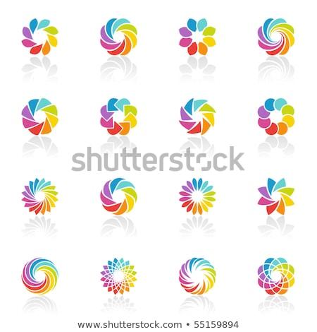 Magenta flor ícone ilustração isolado branco Foto stock © cidepix
