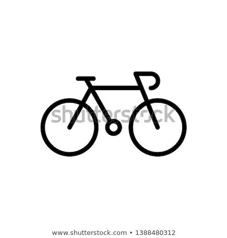 Bicicletta illustrazione città sport salute bike Foto d'archivio © Slobelix