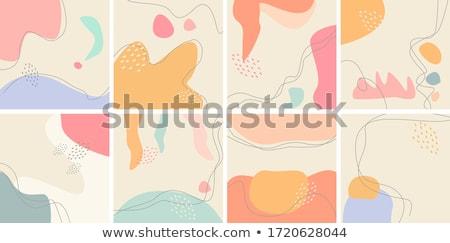 Vektor absztrakt pasztell terv színes modern Stock fotó © izakowski