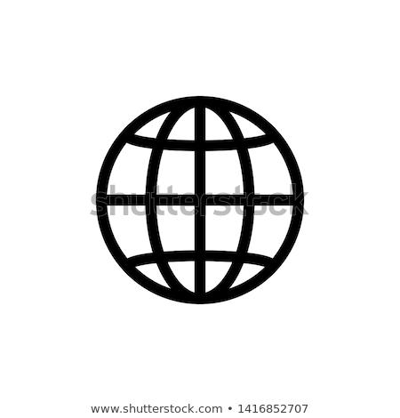 Сток-фото: значок · компьютер · Мир · торговых · сеть