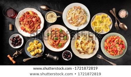 seafood pasta dish stock photo © travelphotography