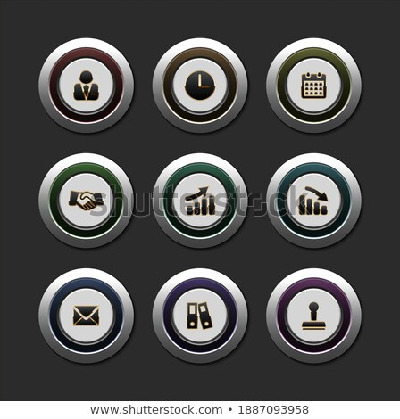 info golden vector icon button stock photo © rizwanali3d