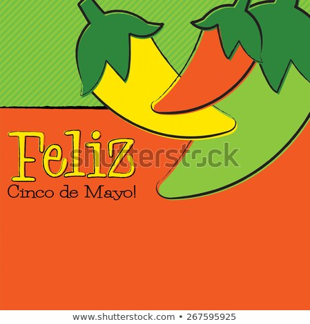 Stock photo: Cinco De Mayo Chilli's in vector format.