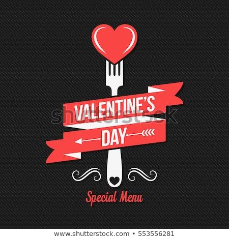 Valentine's Day Restaurant Menu Template Background  Stock photo © DavidArts