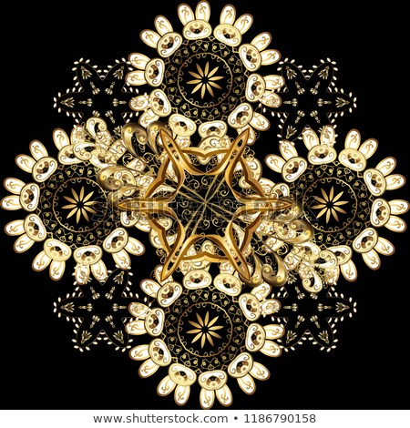 Luxus arany damaszt tapéta klasszikus végtelenített Stock fotó © fresh_5265954