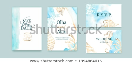 watercolor sea background poster or card template vector art Stock photo © fresh_5265954