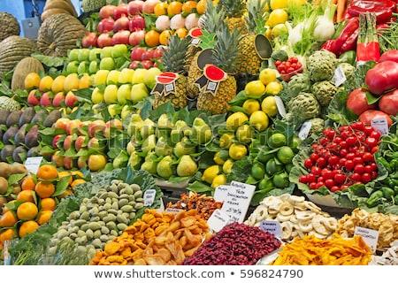 çok · taze · meyve · pazar · Barcelona · meyve - stok fotoğraf © smuki