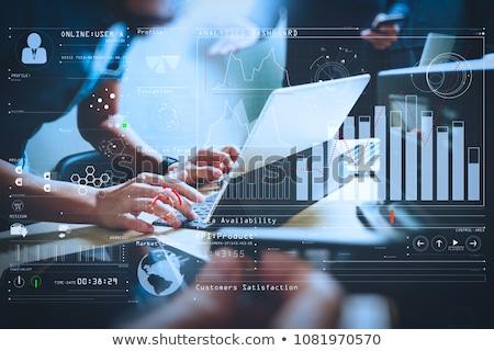data analysis   modern keyboard concept stock photo © tashatuvango